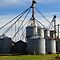 SILVER or BRICK FARM GRAIN SILOS