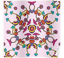 Psychedelic Magic Mushroom Ornament 0006 Poster