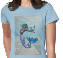 Playtime .. a joyful mermaid Womens Fitted T-Shirt