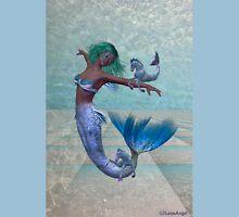 Playtime .. a joyful mermaid Womens Fitted T-Shirt