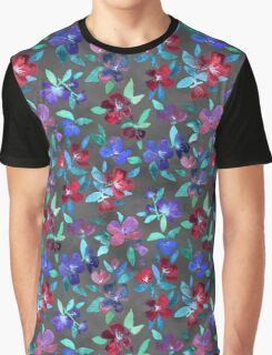 Blossoms in Cherry, Plum and Purple Graphic T-Shirt