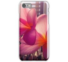 Bright pink frangipanis  iPhone Case/Skin
