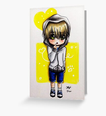 Chibi boy Greeting Card