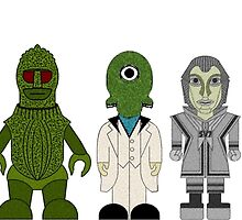 Doctor Who Baddies Lineup by Chris Singley