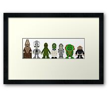 Doctor Who Baddies Lineup Framed Print