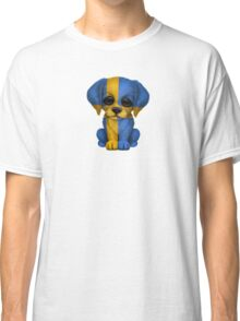 Cute Patriotic Swedish Flag Puppy Dog Classic T-Shirt