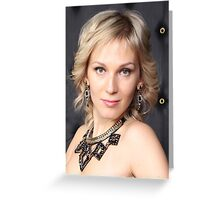 blond  Portrait  Greeting Card