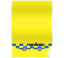 Volvo 850 Police (Yellow) Poster