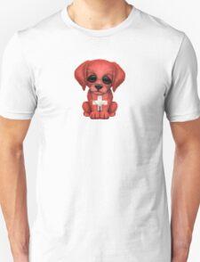 Cute Patriotic Swiss Flag Puppy Dog Unisex T-Shirt