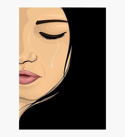Crying Girl Photographic Print