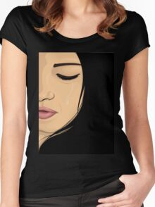 Crying Girl Women's Fitted Scoop T-Shirt