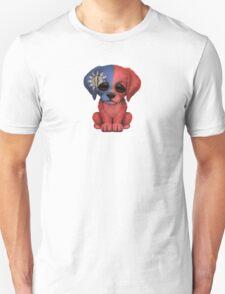 Cute Patriotic Taiwanese Flag Puppy Dog Unisex T-Shirt