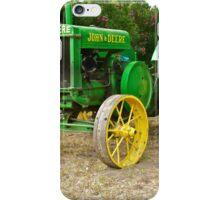 Antique John Deere Farm Tractor I iPhone Case/Skin