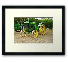 Antique John Deere Farm Tractor I Framed Print