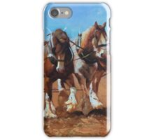 Working horses iPhone Case/Skin