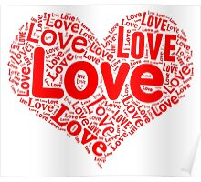 Love - Red Heart Poster