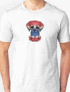 Cute Patriotic Thai Flag Puppy Dog Unisex T-Shirt