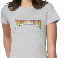 Flash Gordon - Distress Reverse Colour Variant Womens Fitted T-Shirt