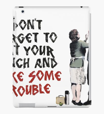 Banksy - Mother and Son iPad Case/Skin