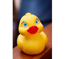 Yellow rubber bath duck Photographic Print