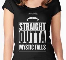 Straight outta Mystic Falls Women's Fitted Scoop T-Shirt