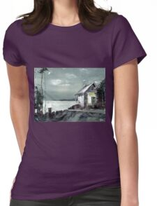 Moon Light Womens Fitted T-Shirt