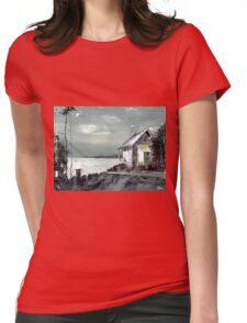 Moon Light Womens Fitted T-Shirt