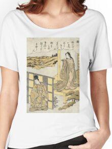 Nu Crossing Over To Kawachi - Shunsho Katsukawa - 1772 - woodcut Women's Relaxed Fit T-Shirt