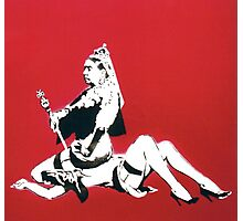 Banksy - Queen Vic Photographic Print