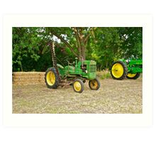 Vintage John Deere Farm Tractor 2 Art Print
