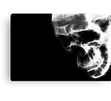 Glow Skull Canvas Print