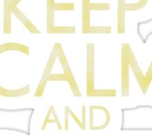 Keep Calm and Canton (faux vintage) Sticker
