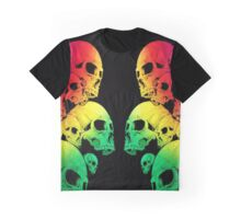 Colour Skull Graphic T-Shirt