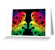 Colour Skull Greeting Card