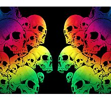 Colour Skull Photographic Print