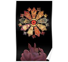 NARUTO AND THE THE TAILED BEASTS Poster
