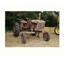 Vintage McCormick Farmall Tractor 2 Art Print