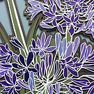Agagapanthus papercut by Hannah Clair Phillips