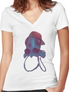 TentaCool Women's Fitted V-Neck T-Shirt