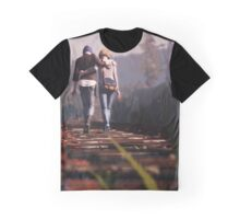 Train Tracks Graphic T-Shirt