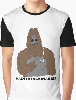smoking yeti  Graphic T-Shirt