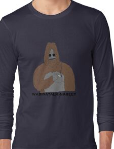 smoking yeti  Long Sleeve T-Shirt