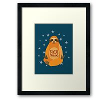 Sloth Your Problems Framed Print