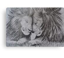 Brotherhood of Lions Canvas Print