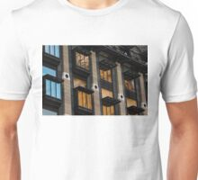 Big Ben Abstract - The Iconic Clock Reflected On A Wall Of Windows Unisex T-Shirt