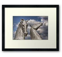 The Kelpies Framed Print