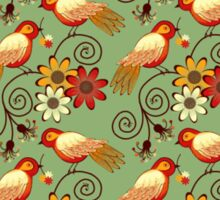 Birds and Flowers Sticker