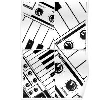 Abstract Synth Keyboard  Poster