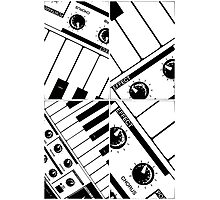 Abstract Synth Keyboard  Photographic Print