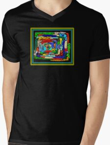 """Concentrification"" Transparent Overlay Mens V-Neck T-Shirt"
